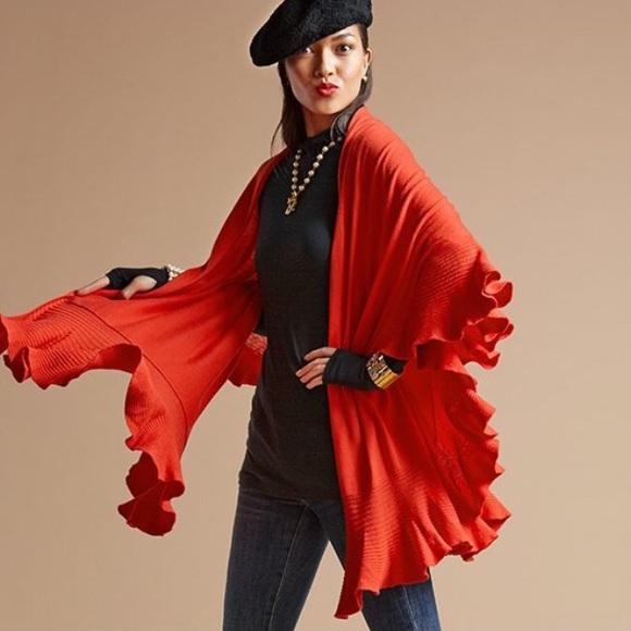 55% off CAbi Sweaters - cabi Ruffle Wrap from Sarah's closet on ...